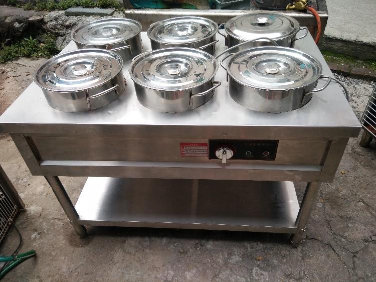 【宏盛达二手电器机电】出售九成新不锈钢6桶保温电粥车